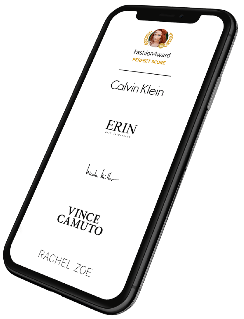 mobile device with brand logos