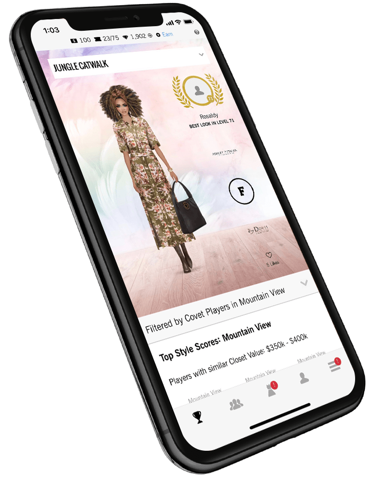 covet fashion app style scores