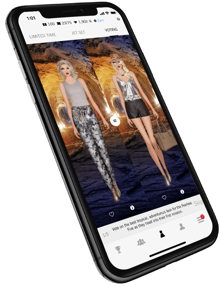 covet fashion app look voting