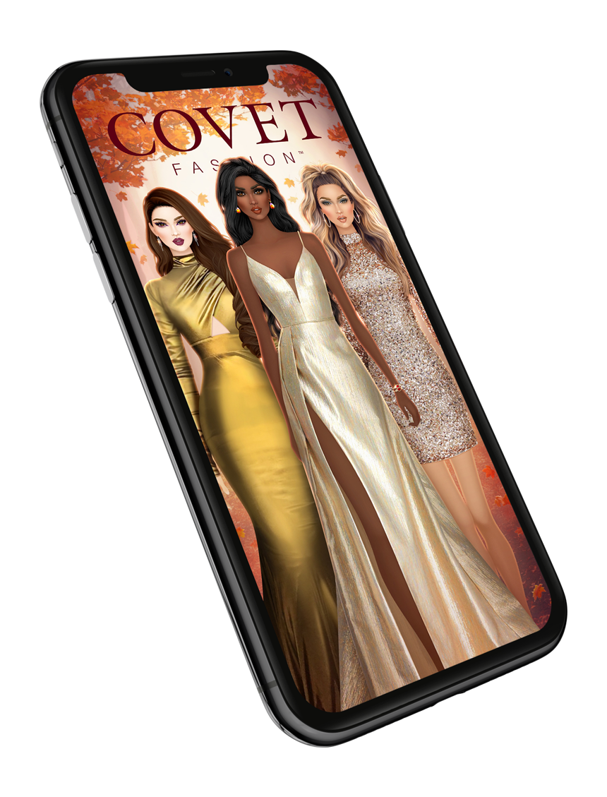 covet fashion app on mobile device